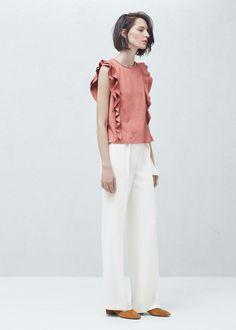 Ruffled top - Shirts for Women | MANGO USA