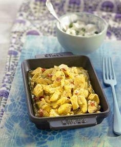 Curry de pollo con leche de coco
