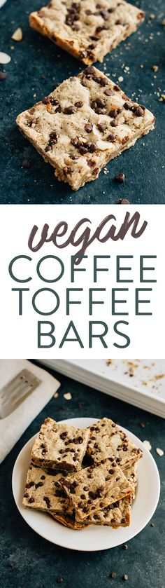 AMAZING COFFEE TOFFEE BARS (Vegan)