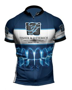 Fisher & Zitterich Dentistry have their new full custom bicycle jerseys!