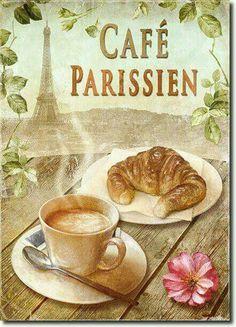 Decoupage Vintage, Decoupage Paper, Vintage Diy, Vintage Labels, Vintage Coffee, Vintage Images, I Love Coffee, Coffee Break, Cafe Art