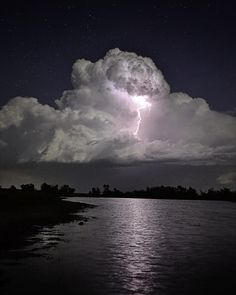 Lightning Bolt in cloud of forming T-storm in rural KS. Long Exposure-please view in full size Lightning Bolt Reflection All Nature, Science And Nature, Amazing Nature, Life Science, Tornados, Thunderstorms, Storm Clouds, Sky And Clouds, Ocean Storm
