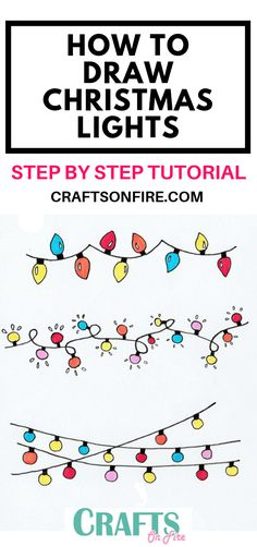 Easily Create These Christmas Lights For Your Bullet Journal Or ~ stellen sie le. Easily Create These Christmas Lights For Your Bullet Journal Or ~ stellen sie leicht diese weihnach Christmas Lights Drawing, Easy Christmas Drawings, Xmas Drawing, Christmas Doodles, Diy Christmas Cards, Noel Christmas, Xmas Cards, Simple Christmas, Christmas Crafts
