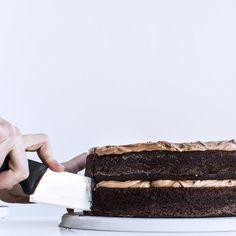 Simple Two-Layer Chocolate Birthday Cake with Milk Chocolate Ganache Recipe