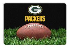 Green Bay Packers Classic NFL Football Pet Bowl Mat - L