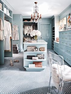 We definitely do NOT have the blues for this closet. We love it!