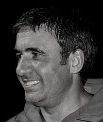 Gheorghe Hagi is a Romanian former footballer, considered one of the best attacking midfielders in Europe during the and and the greatest Romanian footballer of all time. Nobel Prize Winners, Trainer, Chemistry, Famous People, All About Time, Football Players, Scorpio, 1990s, Snake