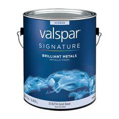 Valspar Brilliant Metals Gold Base Satin Latex Interior Paint (Actual Net Contents: 116-fl oz)