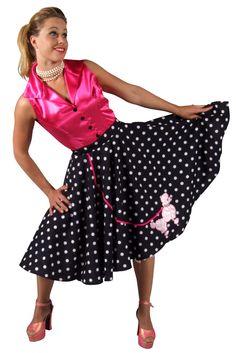 "Rouge//noir polka dot jupe foulard bobby socks années 1950 rock n roll fancy dress 26/"""