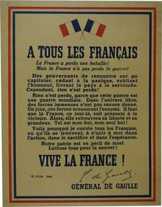 France has lost the battle. But France has not lost the war. The government has capitulated , yielding to panic , forgetting honor , delivering the country bond