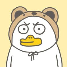 Funny Cartoon Characters, Funny Cartoons, Kawaii Drawings, Cute Drawings, Funny Duck, Fan Anime, Little Duck, Funny Animal Quotes, Cute Memes