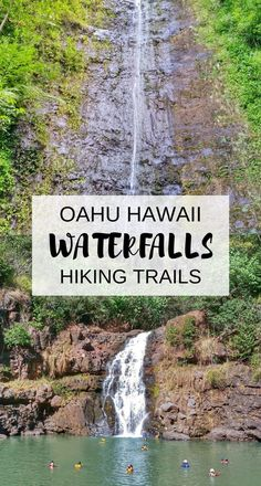 Manoa Falls + Waimea Falls, Oahu Hawaii. Waterfalls in Oahu with some popular hikes in Hawaii. For US hiking trails in Hawaii, there are tons of hikes on Oahu to choose during Hawaii vacation on the island and there are a few Oahu waterfall hikes too. Man
