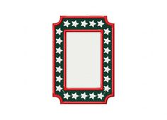 Stars Frame Available In Both Applique and Stitched