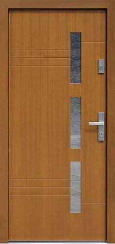 Dębowe wejściowe drzwi zewnętrzne 470,1 złoty dąb