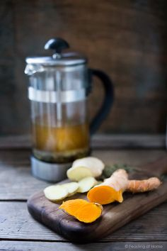 Ayurvedic Detox Tea- a daily drink with fresh turmeric, ginger and whole spices to cleanse and detox the body. | www.feastingathome.com