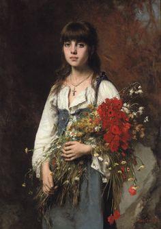 Summertime, Alexei Harlamoff. Russian (1848-1915)