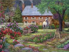 Beautiful Painting - The Sweet Garden by Chuck Pinson