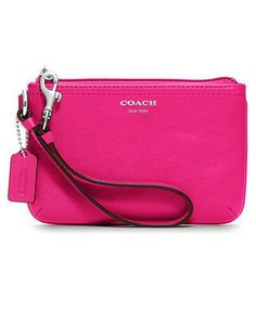 COACH LEATHER SMALL WRISTLET - Coach Accessories - Handbags & Accessories - Macy's