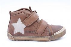 Bisgaard sneaker leder velcro ster bruin (m25-m34)