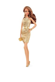 City Shine™ Barbie® Doll - Gold Dress | Barbie Collector