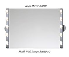 I want to make this IKEA DIY Vanity Mirror $59.97