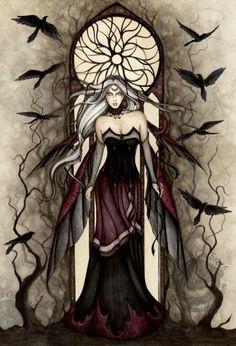 jessica galbreth adark-queen fairy watercolor original art painting fantasy