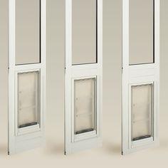 Removable pet door for sliding glass doors