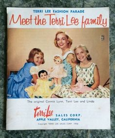 "Terri Lee Doll Paper Booklet,""Meet the Terri Lee Family"",40 pages, 1950's"