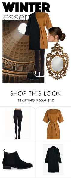 """""""Winter"""" by daisy-giselle on Polyvore featuring MSGM, TOMS, Monki and Howard Elliott"""