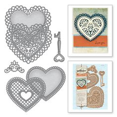 Shapeabilities Lace Hearts Etched Dies (S5-204)