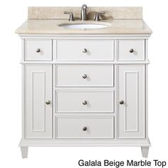 Windsor 36 inch single vanity in white finish with sink and top - Allen Roth Roveland Black Oak Undermount Single Sink