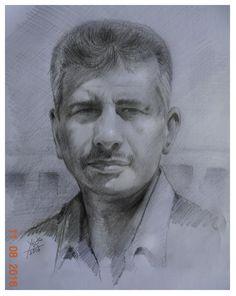 تخطيط بقلم الرصاص لصديقي الفنان فاضل عباس