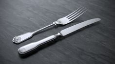 Knife and fork, rendered in KeyShot by Esben Oxholm.
