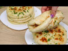 Pâinea plată pentru cină este surprinzător de simplă și gustoasă. Pâinea preferată a familiei # 34 - YouTube Le Diner, Sweet Bread, Rolls, Artisan, Tasty, Snacks, Dinner, Breakfast, Biscuits