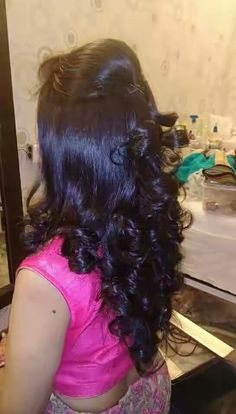 Indian Bridal Hair Style For Long Hair Waves 19 New Ideas Indian Wedding Hairstyles, Bride Hairstyles, Ponytail Hairstyles, Hairstyles Haircuts, Trendy Hairstyles, Ponytail Updo, Saree Hairstyles, Layered Hairstyles, Engagement Hairstyles