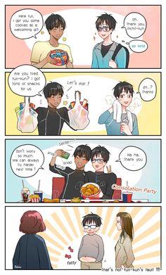 "Viktor is sexyさんのツイート: ""Thai people love to eat but Pichit tried to force-feeding Yuri-kun ! ขุนเยอะๆ จะได้อร่อย #yurionice #ユーリonICE #phichit_chu #พิชิตบริโภค https://t.co/hLcoB13D4s"""