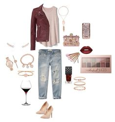 """""""Wine a Lot"""" by cre8ingit on Polyvore featuring Abercrombie & Fitch, Gap, IRO, FOSSIL, Dorothy Perkins, Dolce&Gabbana, Lime Crime, Maybelline, Gucci and Michael Kors"""
