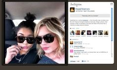Ashley Benson & Vanessa Hudgens tweeting pics from set in Tampa Florida