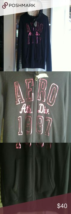(NWT ) AEROPOSTALE  HOODIE. VERY  PRETTY, WARM HOOD, BRIGHT HOT PINK COLOR,POCKETS.PERFECT CONDITION. Aeropostale Accessories