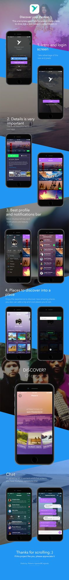 Envato template, coming soon iOS. on Behance