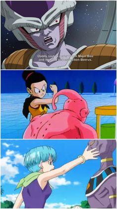 Chichi and Bulma don't care. Vegeta Et Bulma, Dbz Characters, Dragon Ball Z, Son Goku, Digimon, Dbz Memes, Savages, Naruto, Humour