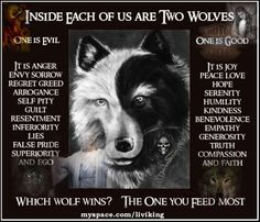 two wolves inside us all | Inside Each Of Us