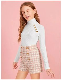 Young Girl Fashion, Preteen Girls Fashion, Teenage Girl Outfits, Girls Fashion Clothes, Cute Girl Outfits, Kids Outfits Girls, Cute Outfits For Kids, Teen Fashion Outfits, Cute Casual Outfits