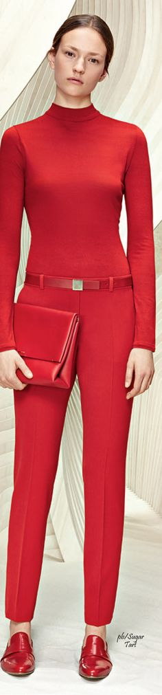 Boss Resort 2016 - all red ensemble for work or after hours