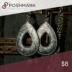 Lucky Brand silver colored engraved earrings Lucky Brand silver colored engraved earrings Jewelry Earrings