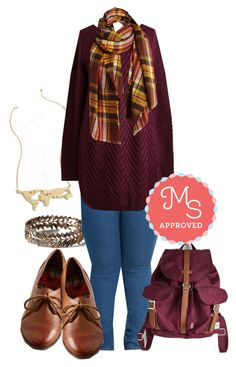 """Fireside by Side Sweater"" by modcloth ❤ liked on Polyvore featuring Herschel Supply Co."
