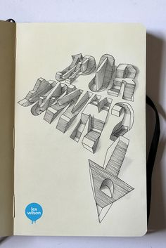 Moleskine illustration #24: Up or Down? (typography) by Lex Wilson, via Flickr