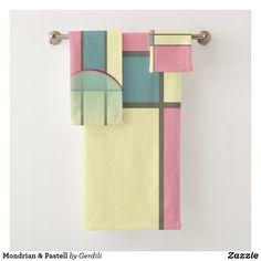 Mondrian & Pastell Badhandtuch Set Piet Mondrian, Constructivism, Welcome Home, Pastel