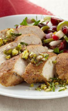 Cumin & Coriander Spiced Chicken with Pistachio Crumble & Pomegranate...