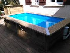 habillage piscine hors sol intex - Google Search Rectangle Above Ground Pool, Mini Piscina, Small Pools, In Ground Pools, Modern Farmhouse, Sweet Home, 1, Backyard, Outdoor Decor